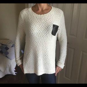 Elan Ivory Shimmering Sweater